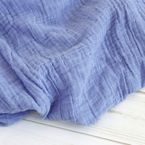 Sugar + Maple Classic Muslin Swaddle - Blue