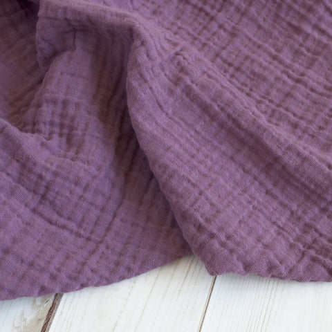 Sugar + Maple Classic Muslin Swaddle - Dusty Violet