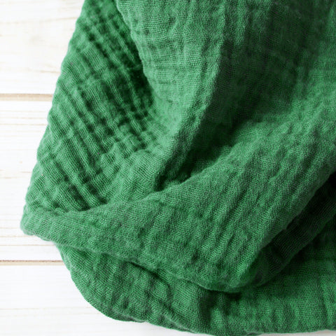 Sugar + Maple Classic Muslin Swaddle - Forest Green