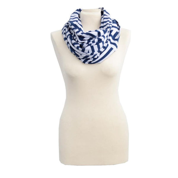 Infinity Happens Breastfeeding Scarf - City Chevron Stripe