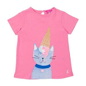 Cat with Ice Cream Cone T-Shirt and Deedee Pants Outfit