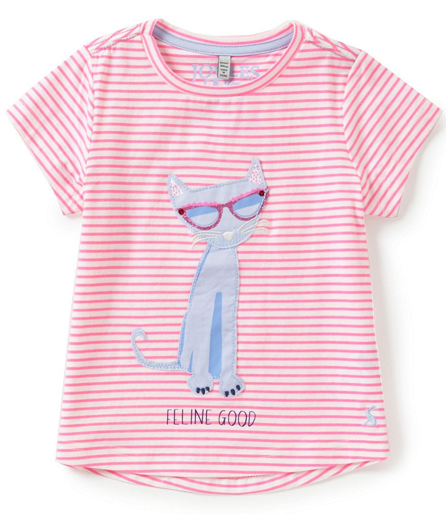 Feline Good Hot Pink Stripe T-Shirt