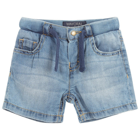 Baby Boys Soft Denim Pull-On Shorts