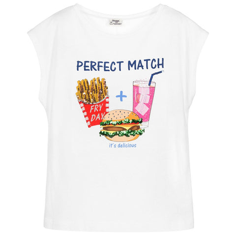 "Girls Sequin & Crystal ""Perfect Match"" T-Shirt"