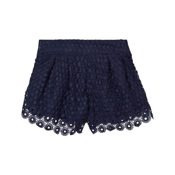 Marino Navy Lace Shorts