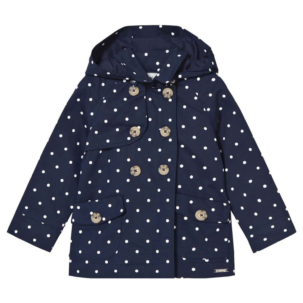 Navy Dot Coat