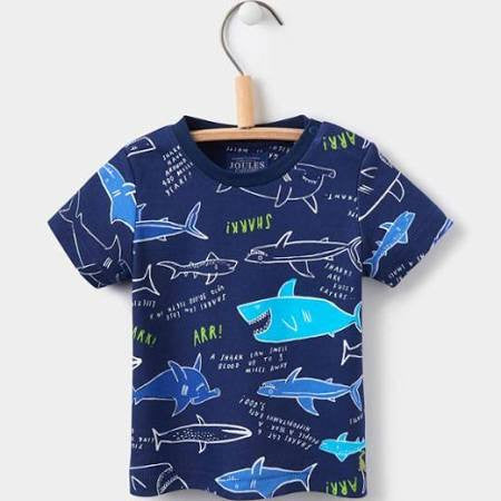 Navy Shark Facts Shirt