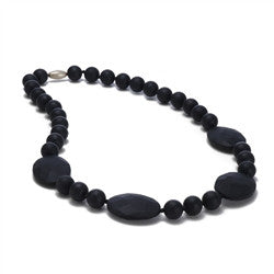 Chewbeads Teething Necklace - Perry Black