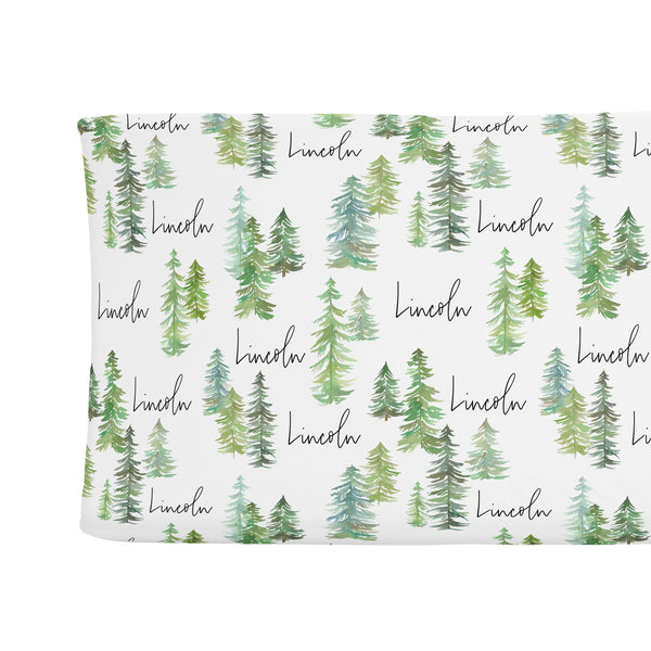 Sugar + Maple Changing Pad Cover - Pine Tree