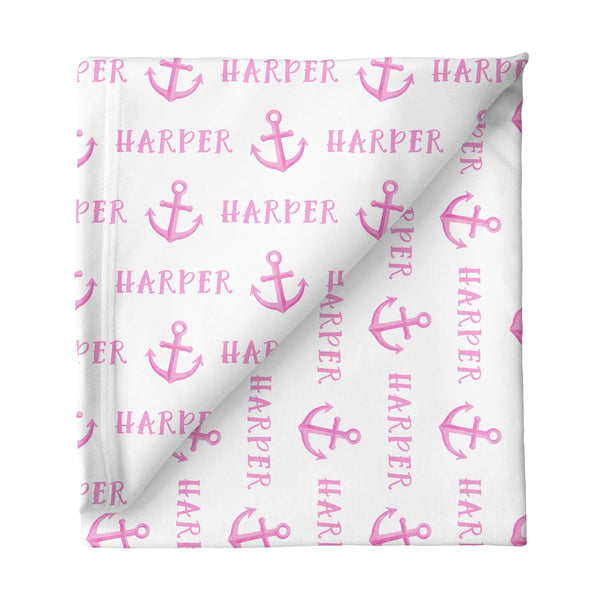 Sugar + Maple Small Stretchy Blanket - Anchor Pink