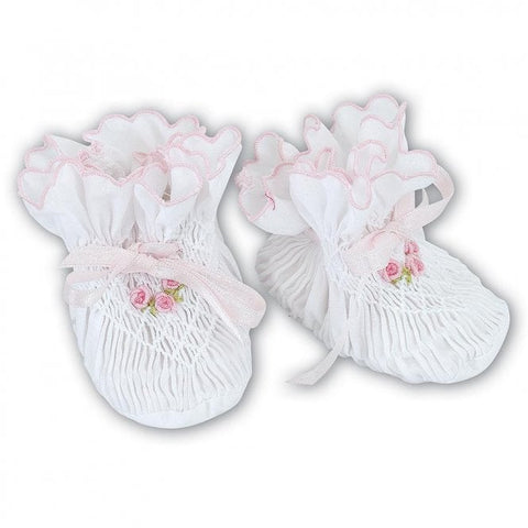 Baby Girl Smocked Booties
