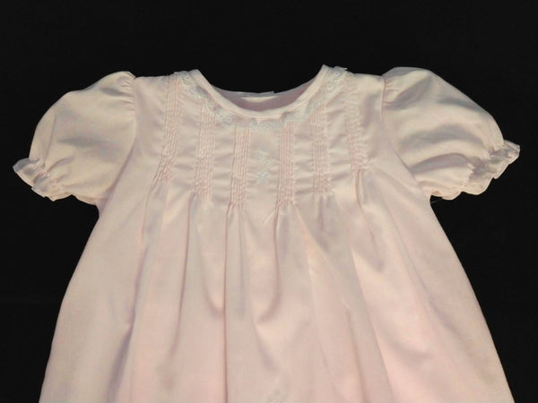 Baby Girl Newborn Pink Dress with Lace