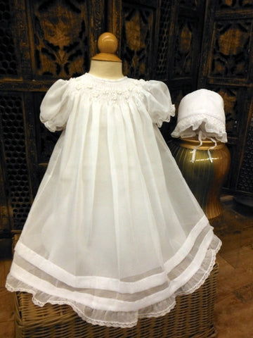fcea4e80c Christening/Baptism Dress and Bonnet