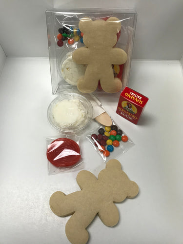 Decorate Your Own Teddy Bear Cookie