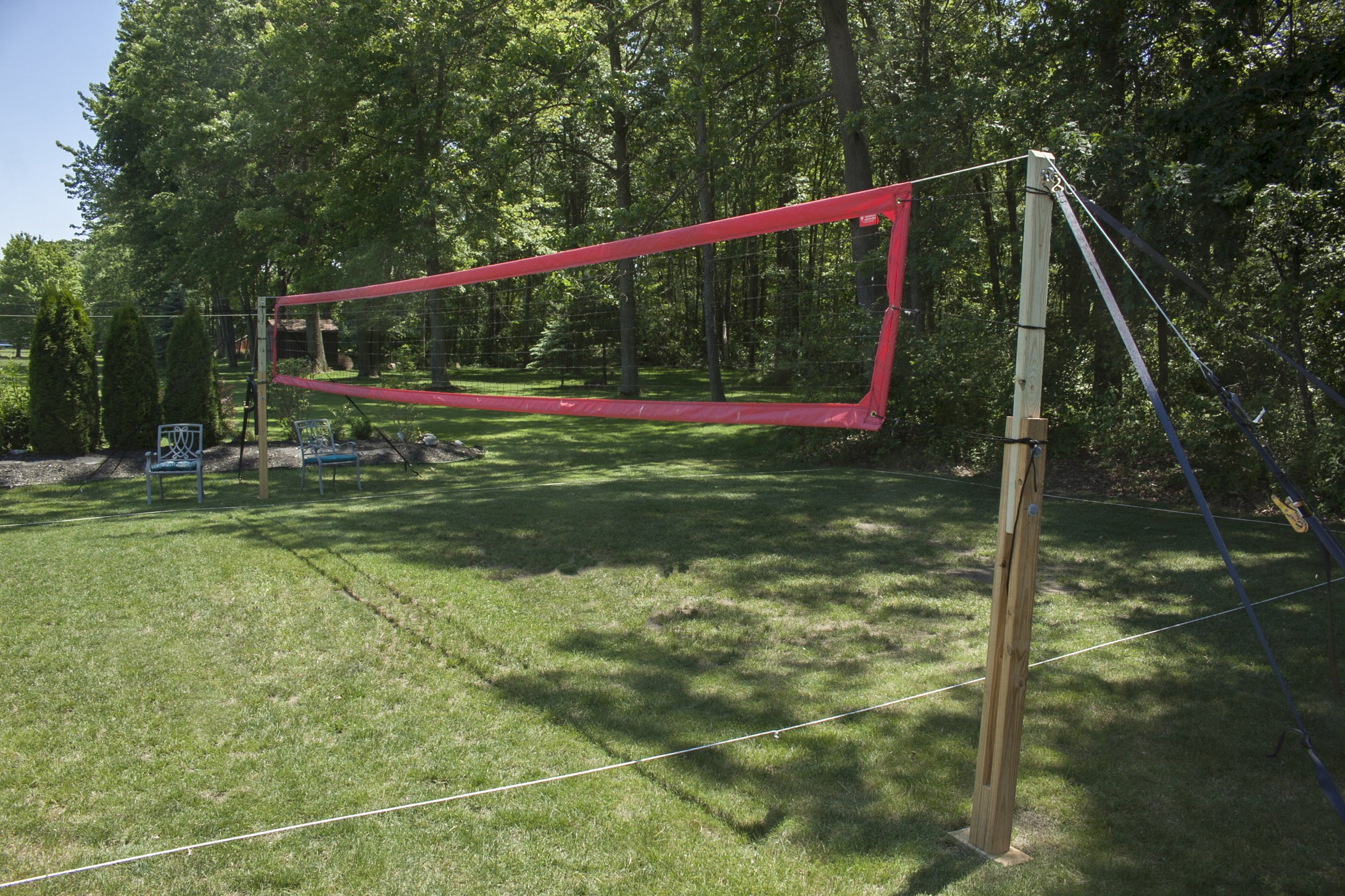 strong robust serious backyard volleyball court system u2013 serious