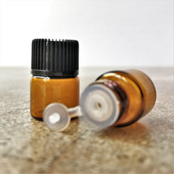 Sample Drams - 2ml (sample size), Amber Glass, Orifice Reducer