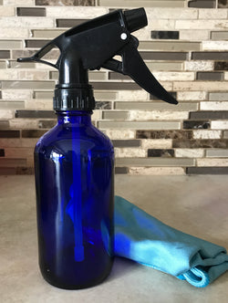 8oz Cobalt Blue Glass Spray Bottle