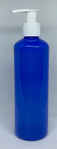 PET Blue Plastic Bottle - 300ml, Pump Top