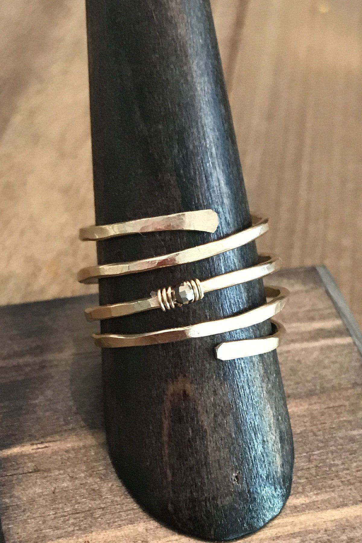 Double Baby Coil w/ Pyrite Accent