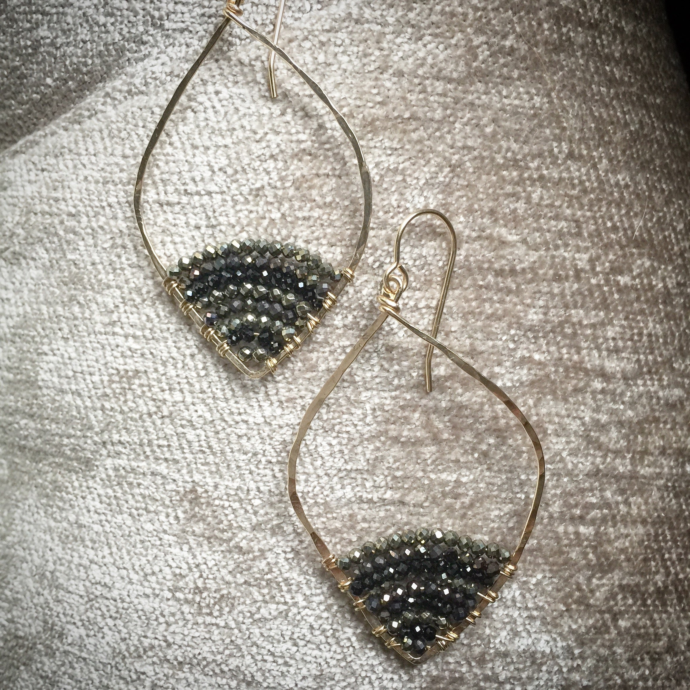 Caviar Dipped Leafed Hoops