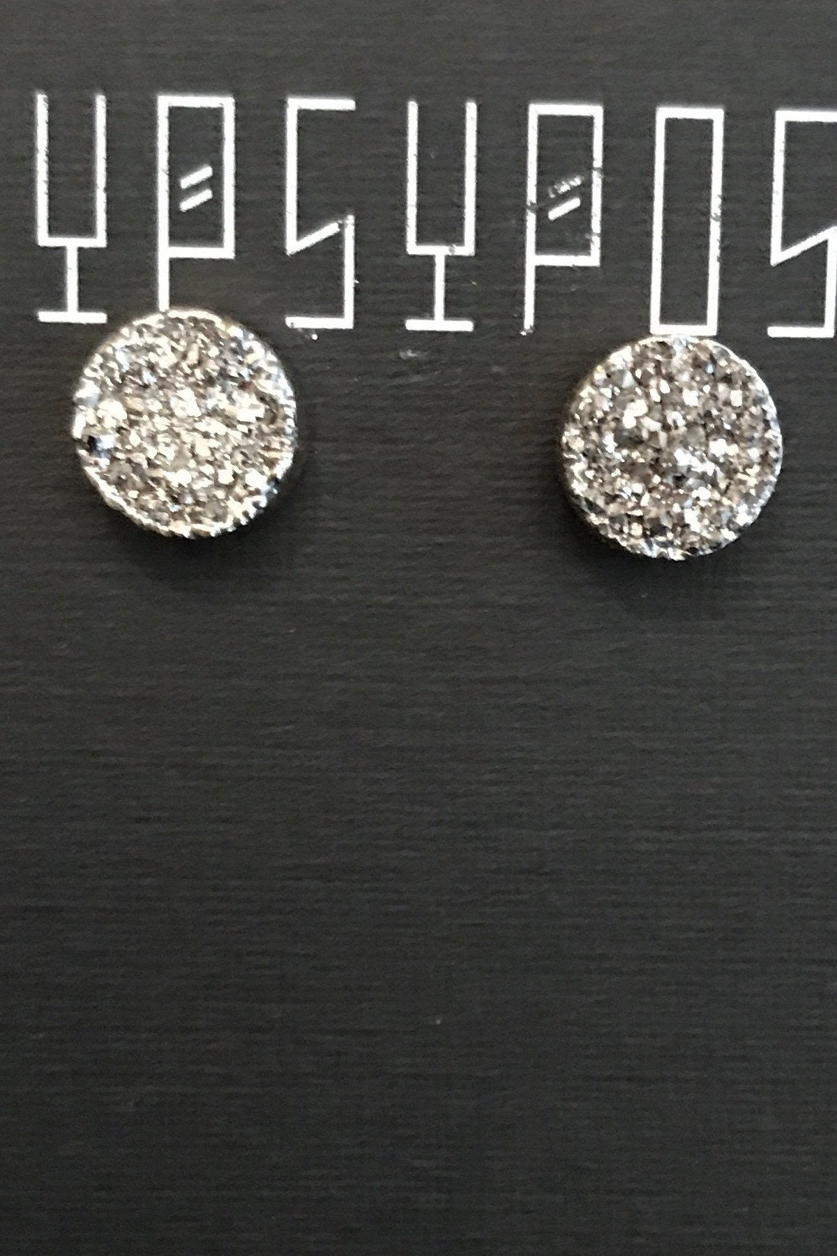 Cosmic Silver Button Studs