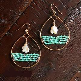 Moons Over My Ocean Hoops