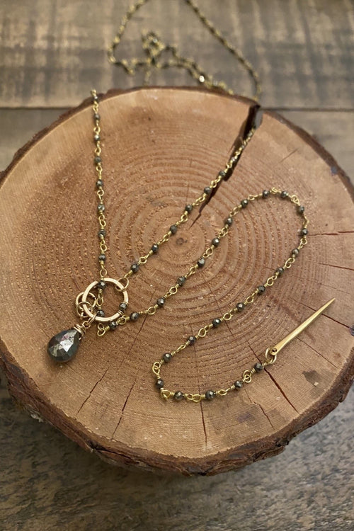 Charmed Micro Pyrite Rosary Strand