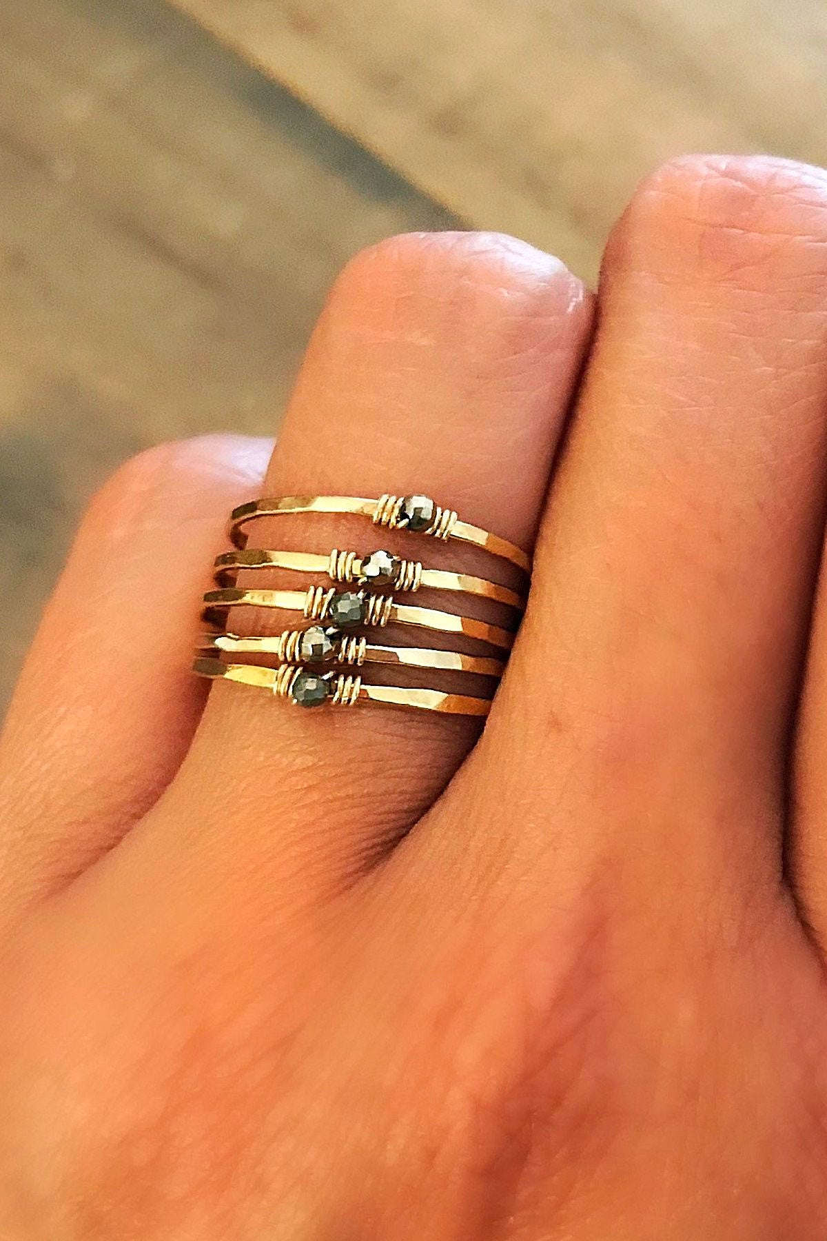 14K Gold Filled Stack Rings