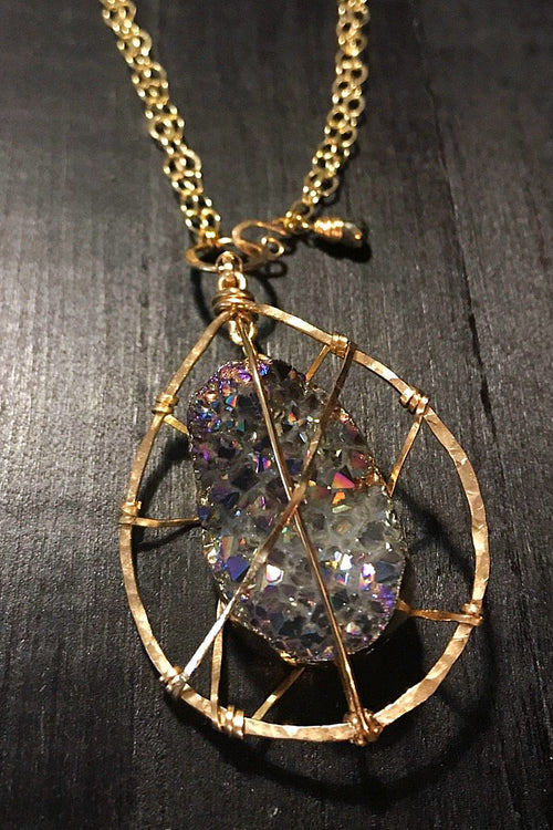 The Original 'Caged Druzy' Necklace