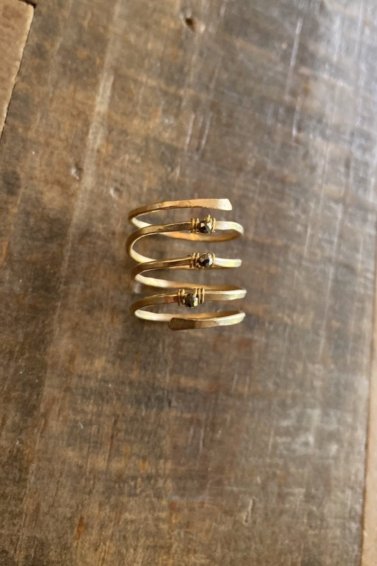Cluster Bling Wrap Ring