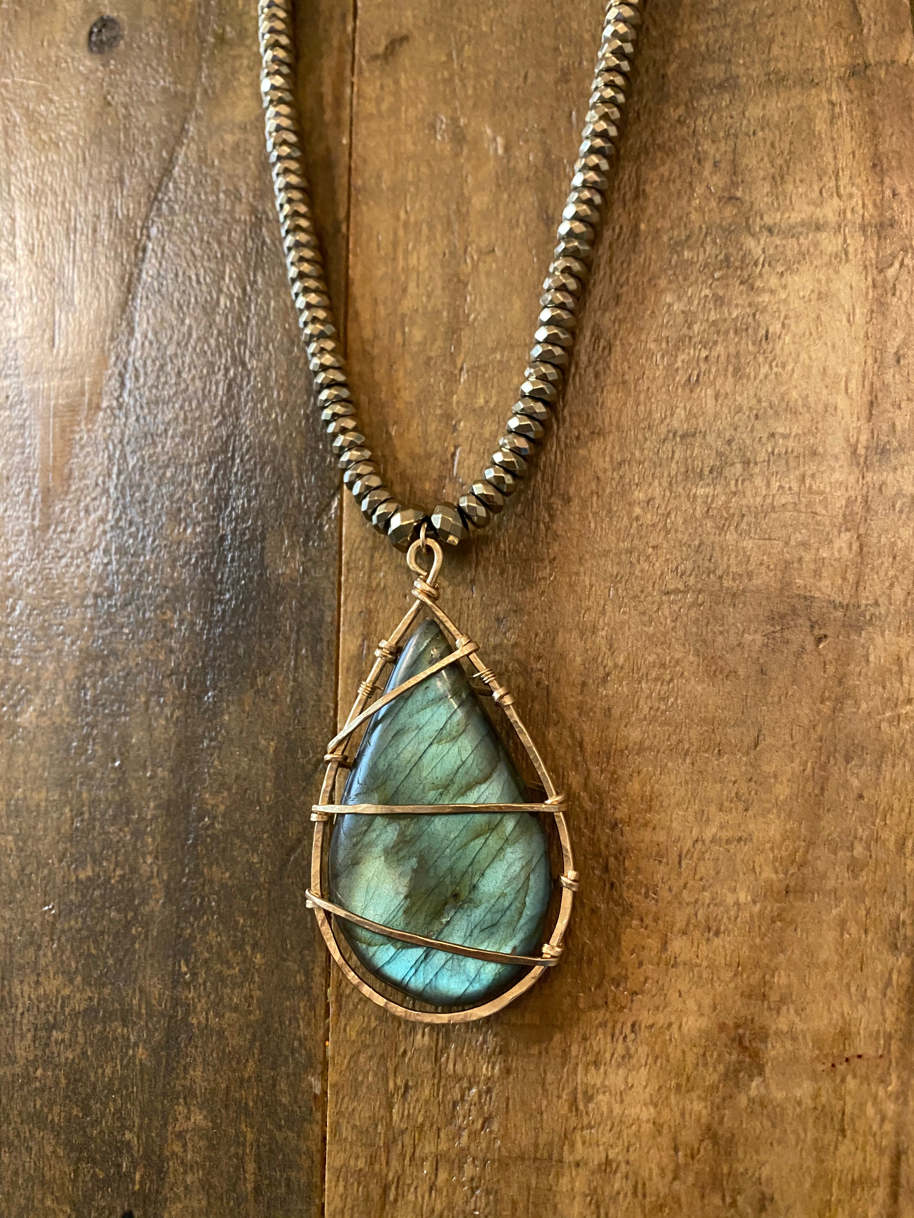 Convertible Lab N' Moonstone Necklace