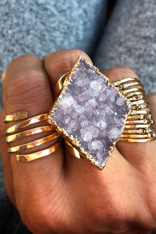 Statement Diamond Druzy Ring