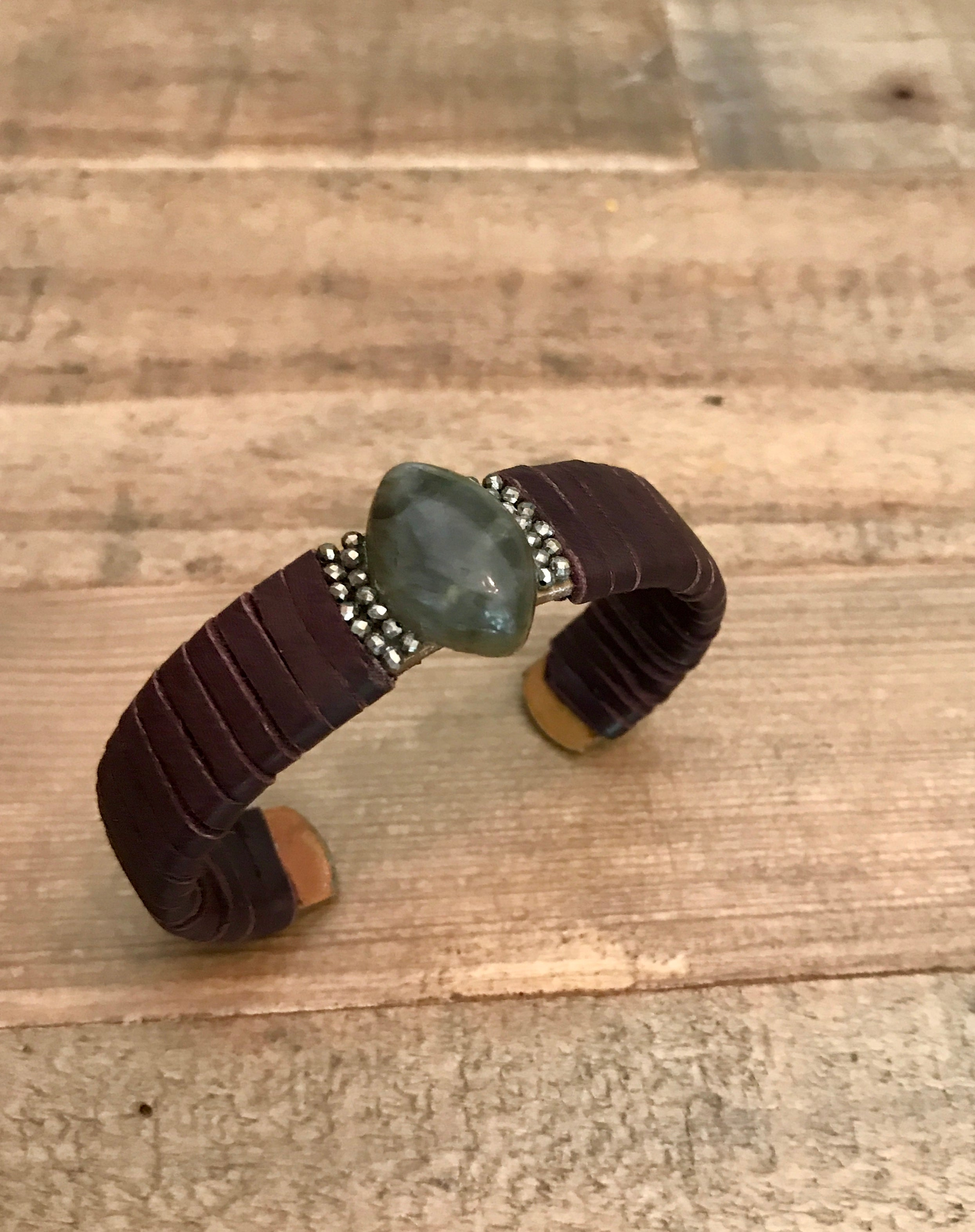 Lab N' Leather Cuff Bangle