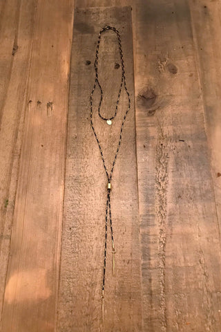 'IYB' Long Lariat Convertible Necklace