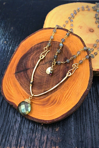 Mystic Shimmer Bar Convertible Necklace