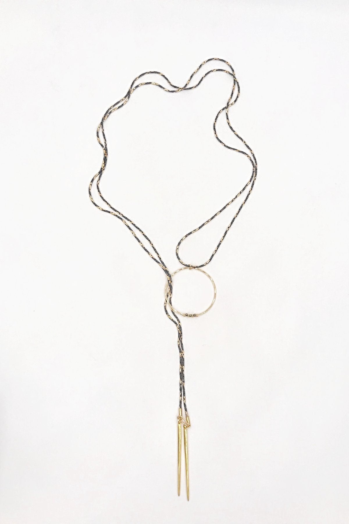Steel & Spiked Looped Lariat