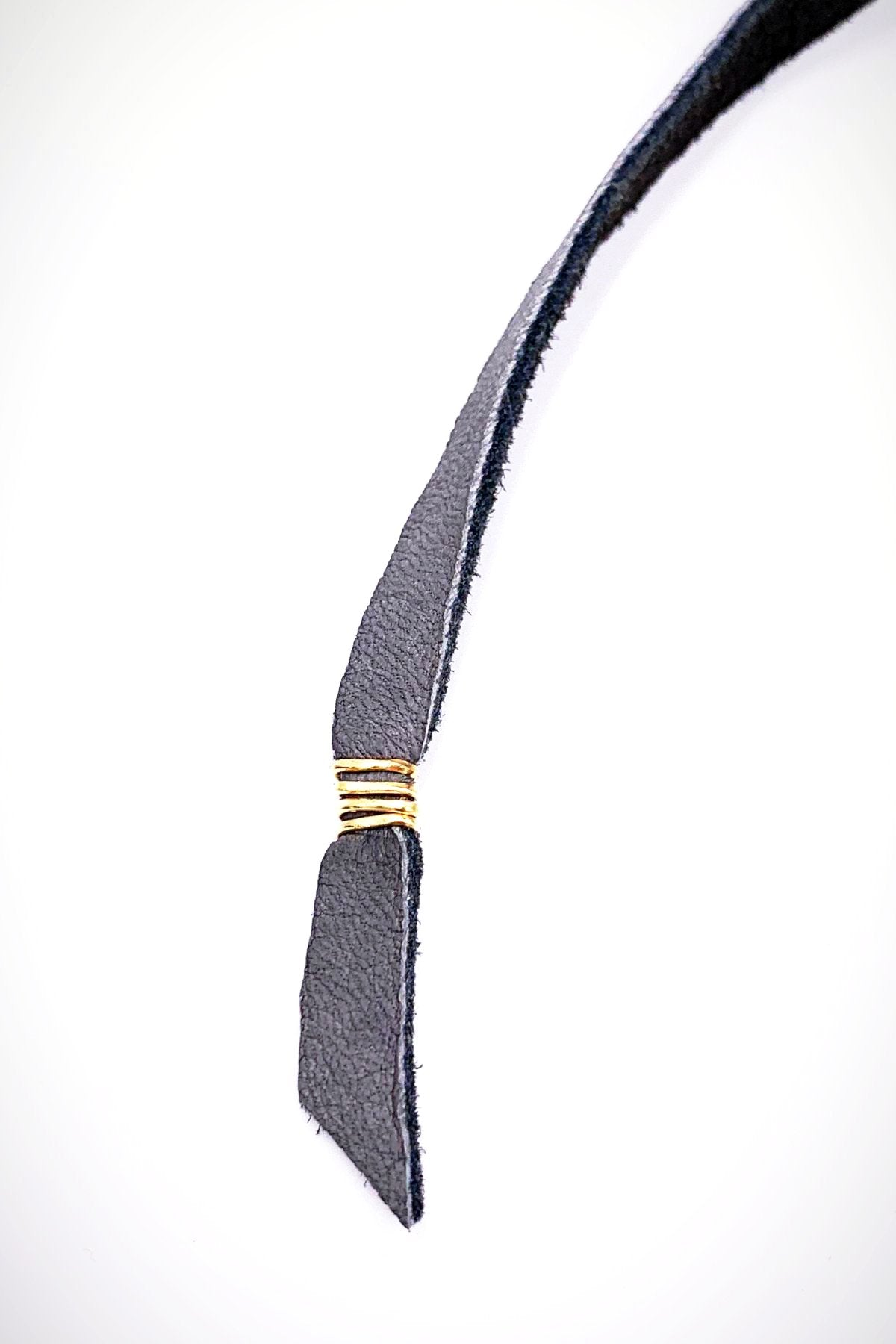 Sliding Crescent & Leather Strand