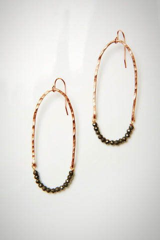 Helix Hoops (Crazy Pyrited Eights)