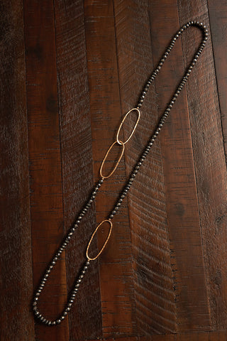 Sandalwood Hematite Neck Garland