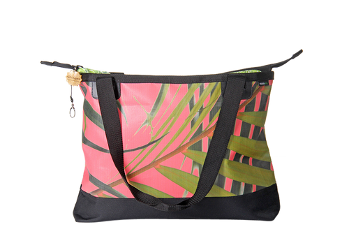Beach Bag - Palm Salmon