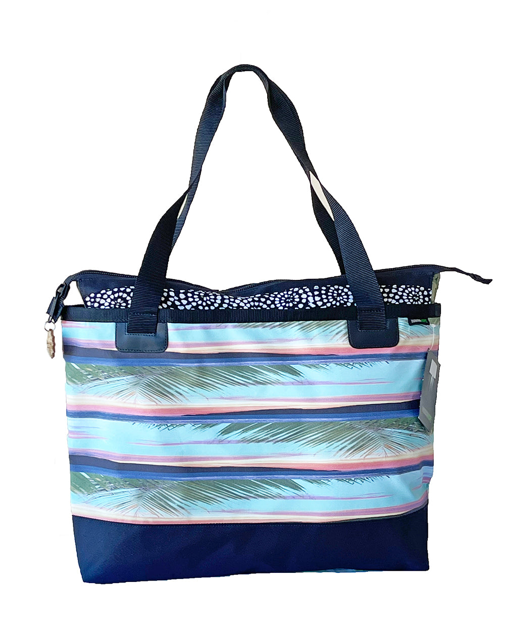 Canvas Beach Bag- Striped Sunset