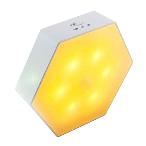 Hex Night Light - Stick Anywhere - Battery Powered - Motion Activated - Perfect for Kids Room, Hallway.