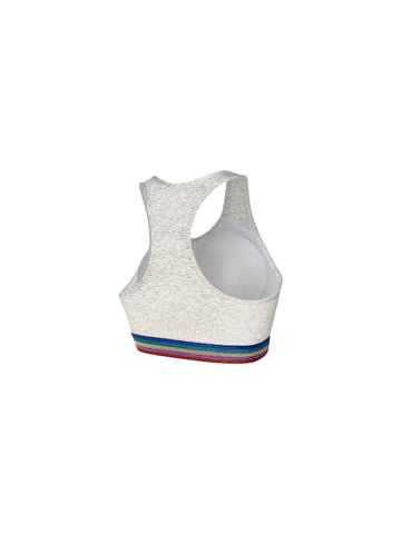 Young Love Rainbow Cotton Sports Bra