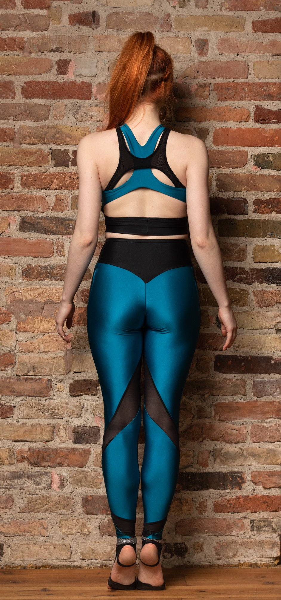 leggings with transparent inserts for yoga