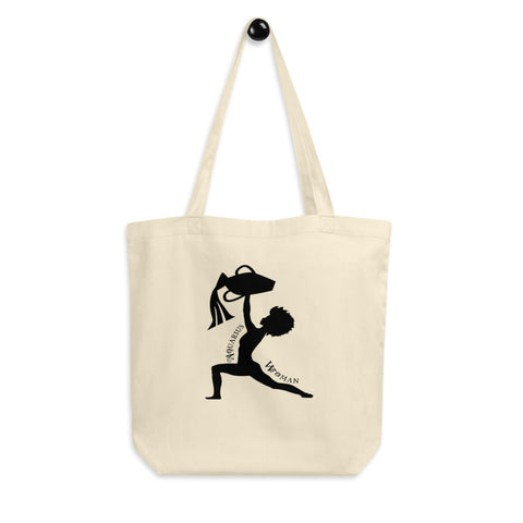 Aquarius African American Woman Eco Tote Bag