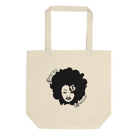 Pisces African American Woman Eco Tote Bag