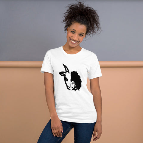 Capricorn  African American Woman Short-Sleeve Women's T-Shirt