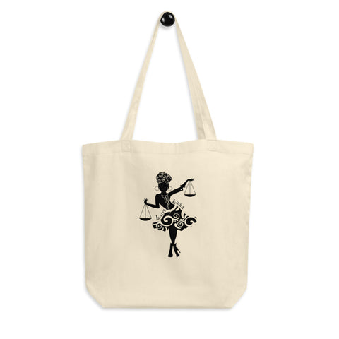 Lady Libra African American Woman Eco Tote Bag
