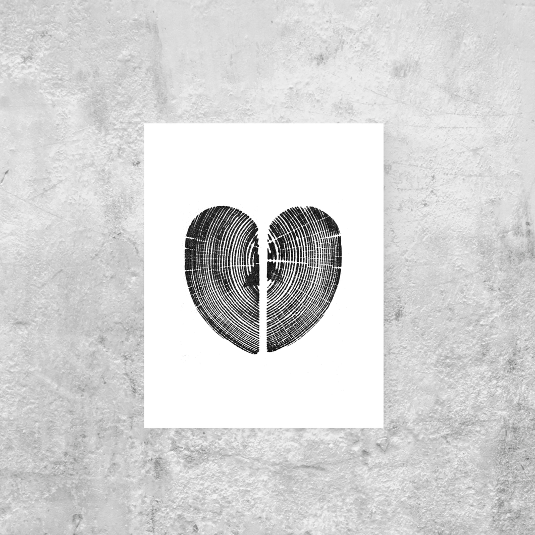 Heart Pine Print, Heart shaped 11