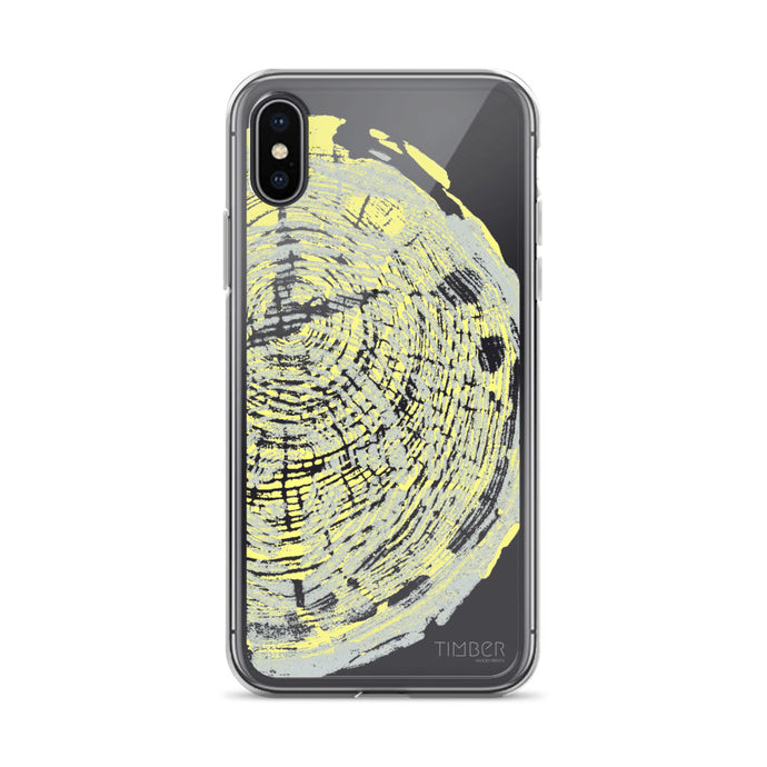 iPhone Case, Pecan Print in Yellow and Grey